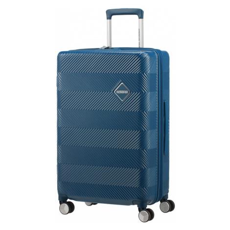 American Tourister Cestovný kufor Flylife Spinner EXP 81G 70/81 l - petrol modrá