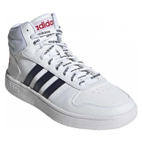 adidas HOOPS 2.0 MID biela - Pánska voľnočasová obuv
