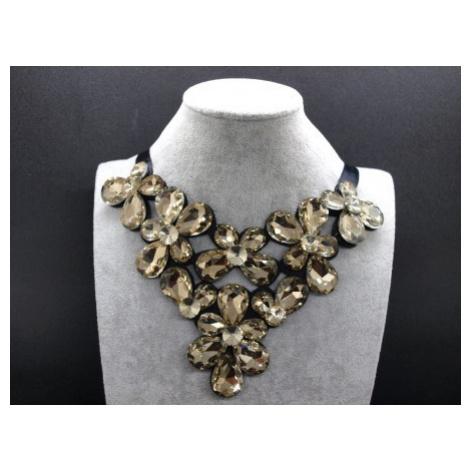 Zlatý náhrdeľník s kameňmi  N04 - Z