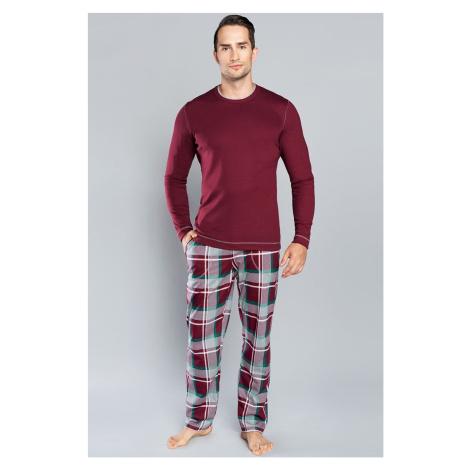 Pánske pyžamo Italian Fashion Walenty LL Bordó