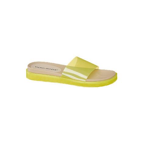 Žlté šľapky Vero Moda
