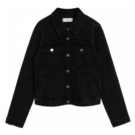 MANGO Prechodná bunda  čierna