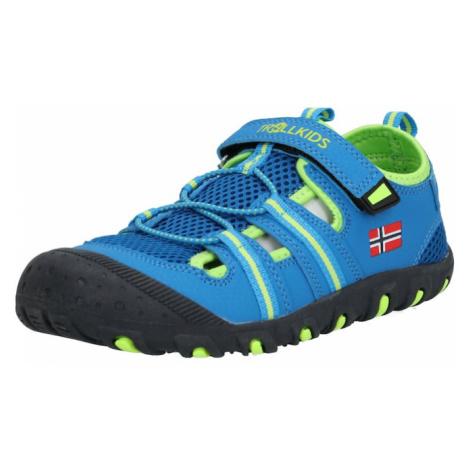 TROLLKIDS Sandále 'Sandefjord Sandal'  modrá / limetová