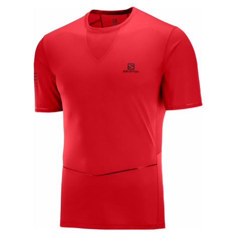 Pánske tričko Salomon Sense Ultra Tee červené