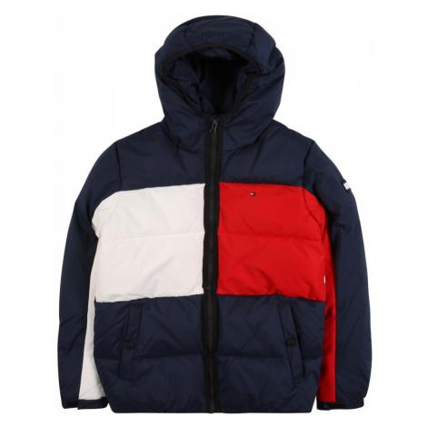 TOMMY HILFIGER Zimná bunda  tmavomodrá / biela / červená