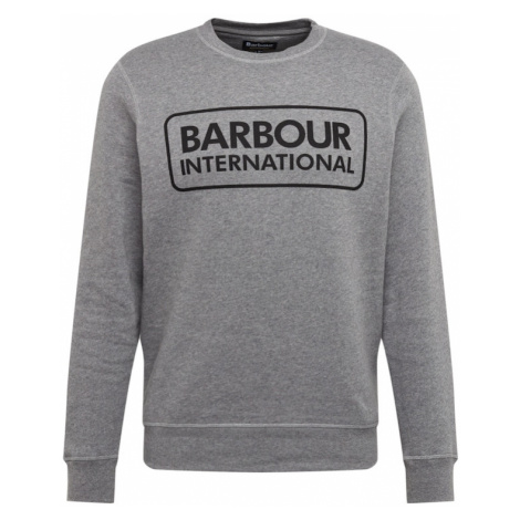 Barbour International Mikina  sivá melírovaná / čierna