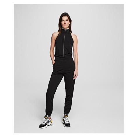 Šaty Karl Lagerfeld Crepe Jersey Jumpsuit