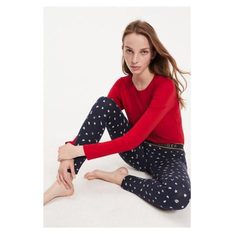 Darčekové balenie Tommy Hilfiger pyžamový set dámsky - červená, modrá