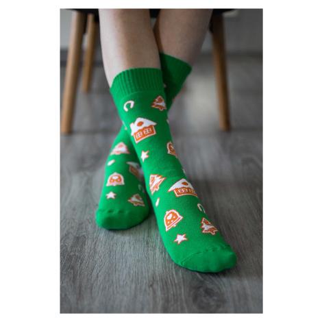 Zimné barefoot ponožky - Perníček 43-46