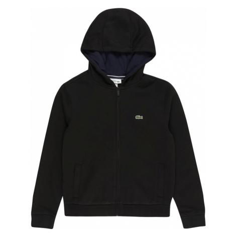 LACOSTE Tepláková bunda  čierna