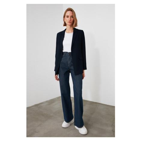 Trendyol Navy High Waist Wide Leg Jeans