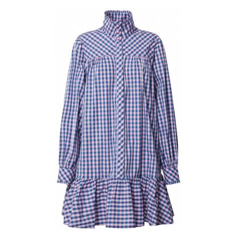 Custommade Košeľové šaty 'Elorie'  modrá / svetlofialová