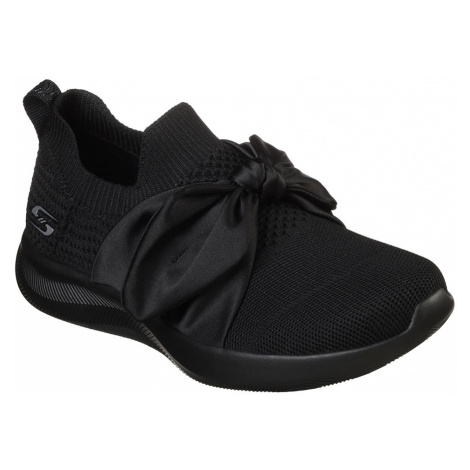 Skechers čierne slip on Bobs Squad 2 Bow Beauty