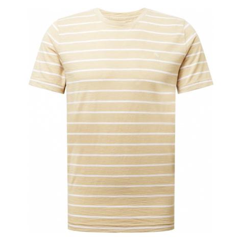 Abercrombie & Fitch Tričko  svetlobéžová / béžová / biela