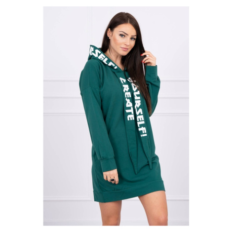Dress with hood Oversize green