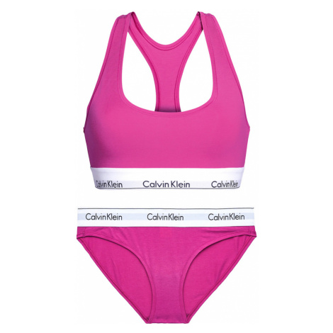 CALVIN KLEIN - set cotton stretch purple podprsenka + bikini- special limited edition