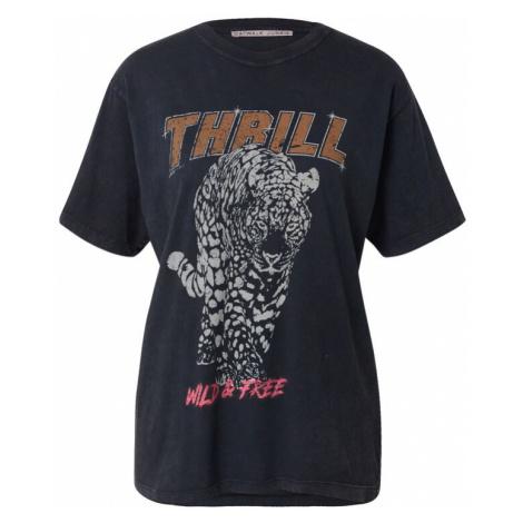 CATWALK JUNKIE Tričko 'THRILL'  čadičová / svetlosivá / ružová / žltohnedá