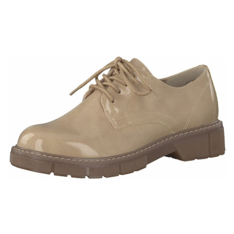 MARCO TOZZI Šnurovacie topánky  béžová