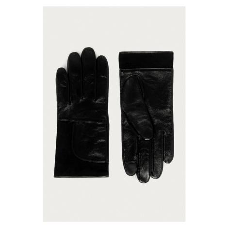 Hugo - Kožené rukavice Hugo Boss