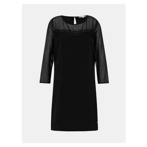 Čierne šaty s krajkou Tom Tailor