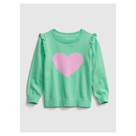Zelený dievčenský sveter GAP
