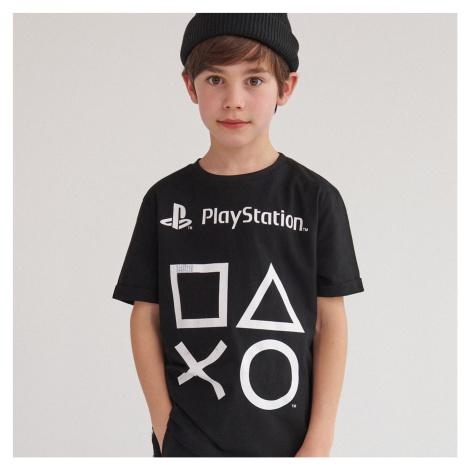 Reserved - Bavlnené tričko PlayStation - Čierna