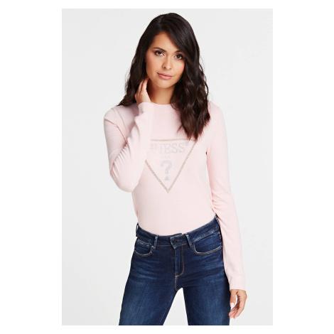 Guess púdrový sveter Jewel Sweater