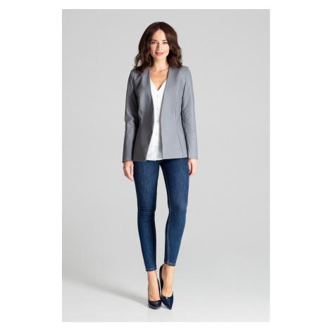 Lenitif Woman's Blazer L073 Grey
