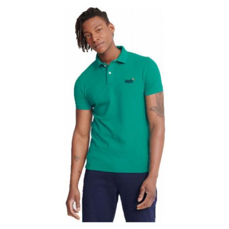 Superdry CLASSIC PIQUE S/S POLO zelená - Pánske polo tričko