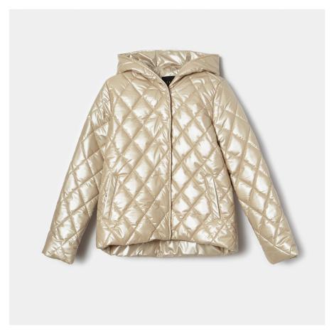 Mohito - Prešívaná bunda s kapucňou - Béžová