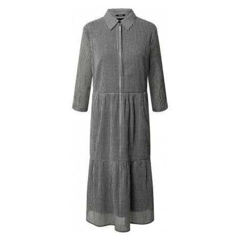 OPUS Košeľové šaty 'Wilani check'  čierna / biela