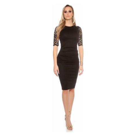 Elegantné čierne dámske šaty Patricia