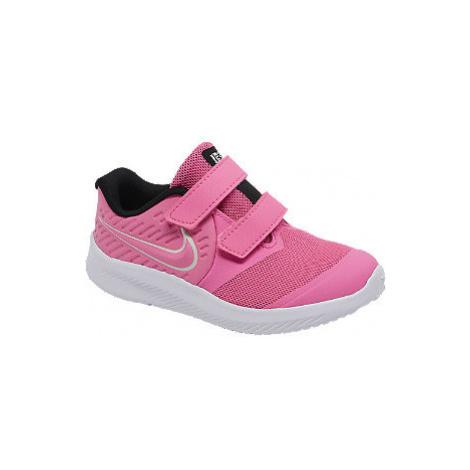 Ružové detské tenisky na suchý zips Nike Star Runner 2