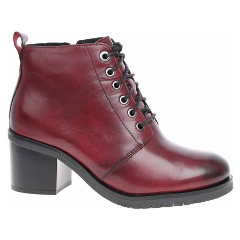 Dámská kotníková obuv Caprice 9-26104-23 bordeaux nappa 9-9-26104-23 540