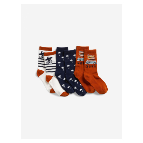 Ponožky dětské 3 páry GAP Modrá