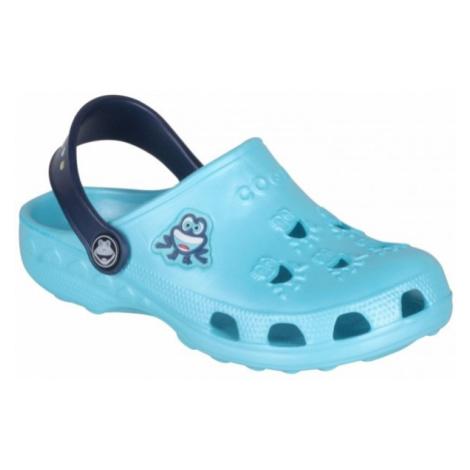 Coqui LITTLE FROG modrá - Detské sandále