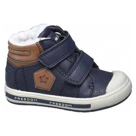 Bobbi-Shoes - Tmavomodré členkové tenisky na suchý zips Bobbi Shoes