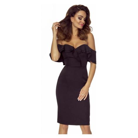 Čierne šaty M58696 Bergamo