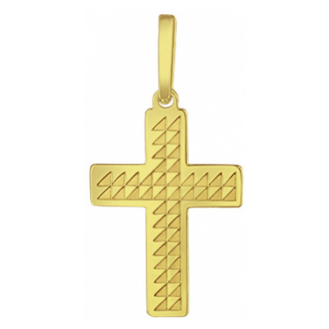 Praqia Zlatý prívesok Krížik PA6254