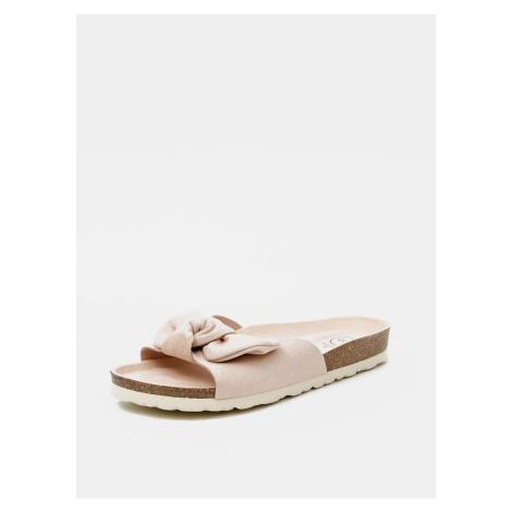 Light pink women's slippers in suede OJJU