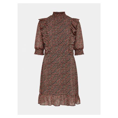 Staroružovej kvetované šaty ONLY Carrie