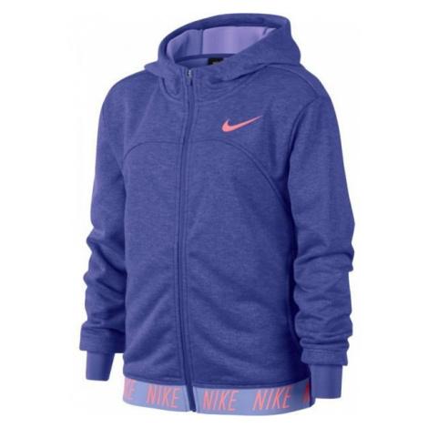 Nike DRY HOODIE FZ STUDIO modrá - Dievčenská športová mikina