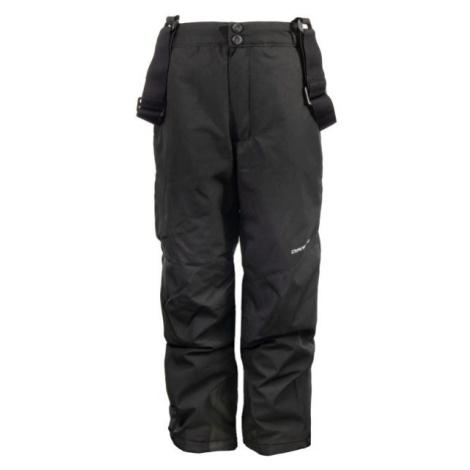 ALPINE PRO FRIDO čierna - Detské lyžiarske nohavice