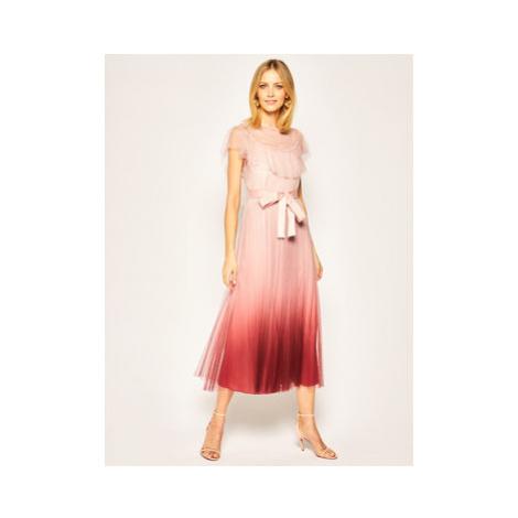 Red Valentino Večerné šaty TR0VA11Y Ružová Loose Fit