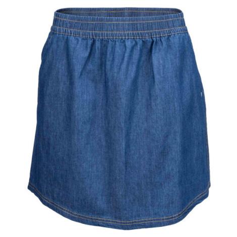 Willard LELA modrá - Dámska plátená sukňa s džínsovým vzhľadom