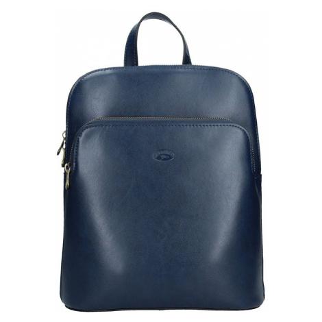 Dámský kožený batoh Katana Alens - modrá