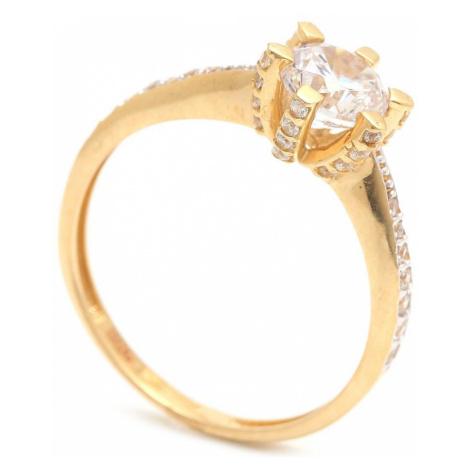 Zlatý zásnubný prsteň WISIA