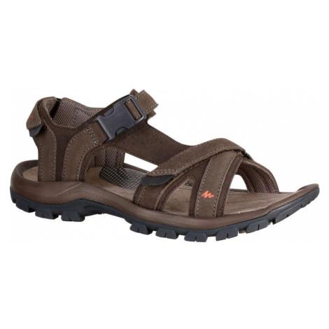QUECHUA Pánske Sandále Nh120 Hnedé