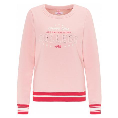 MYMO Mikina  biela / ružová / svetločervená