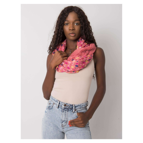 Dusty pink shawl with colorful polka dots
